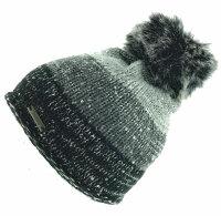 """Damen Winter-Strick-Mütze """"Runa"""" mit flauschigem PomPom und Glitzereffekten"""