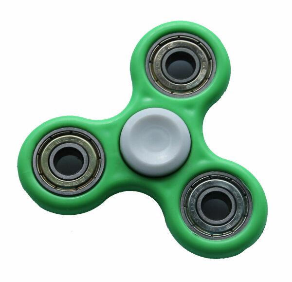 Fidget Spinner  uni grün/weiß