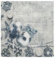 """Tisch-Mitteldecke """"Kugelschmuck"""" 85 x 85 cm pflegeleichte Fotodruck-Tischdecke für stilvolle Advents-/Weihnachtsdekoration"""
