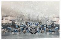 """Tisch-Mitteldecke """"Winterromantik"""" 85 x 85 cm pflegeleichte Fotodruck-Tischdecke für stilvolle Advents-/Weihnachtsdekoration"""