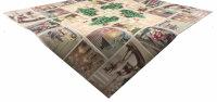 """Tisch-Mitteldecke """"Winterdeko Shabby Chic"""" 85 x 85 cm pflegeleichte Fotodruck-Tischdecke für stilvolle Advents-/Weihnachtsdekoration"""