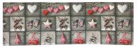 """Tisch-Mitteldecke 85 x 85 cm/ -Läufer 40 x 160 cm """"X-Mas Cottage"""" pflegeleichte Fotodruck-Tischdecke für stilvolle Advents-/Weihnachtsdekoration"""