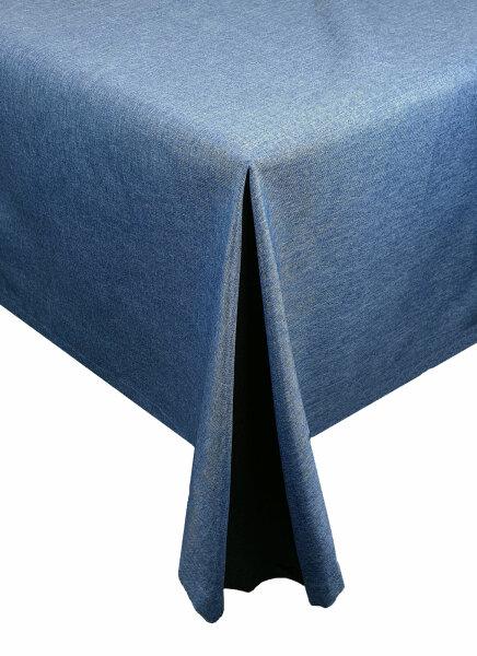 """Tischdecken-Serie """"Panama Uni"""" eckig 110 x 160 Blau"""