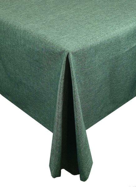 """Tischdecken-Serie """"Panama Uni"""" eckig 110 x 160 Dunkelgrün"""