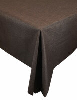 """Tischdecken-Serie """"Panama Uni"""" eckig 130 x 160 Dunkelbraun"""