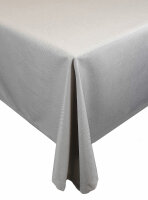 """Tischdecken-Serie """"Panama Uni"""" eckig 130 x 160 Hellgrau"""