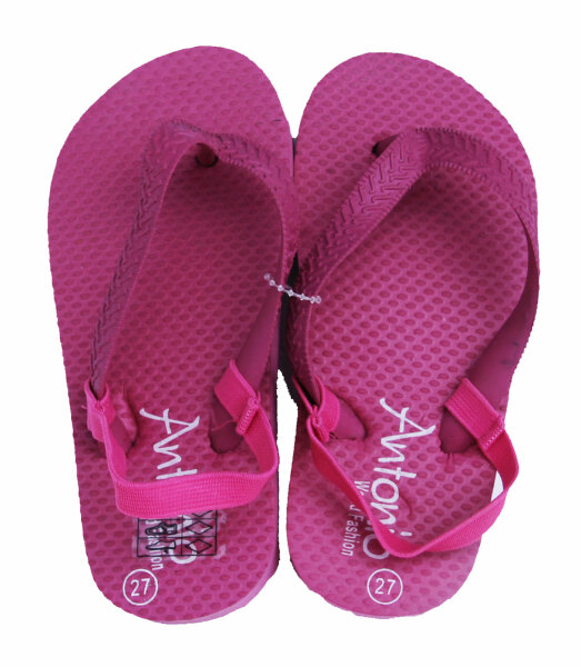 Beach Slipper Kinder pink 25