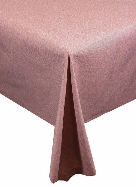 "Tischdecken-Serie ""Panama Uni"" oval 135 x 180 Altrosa"