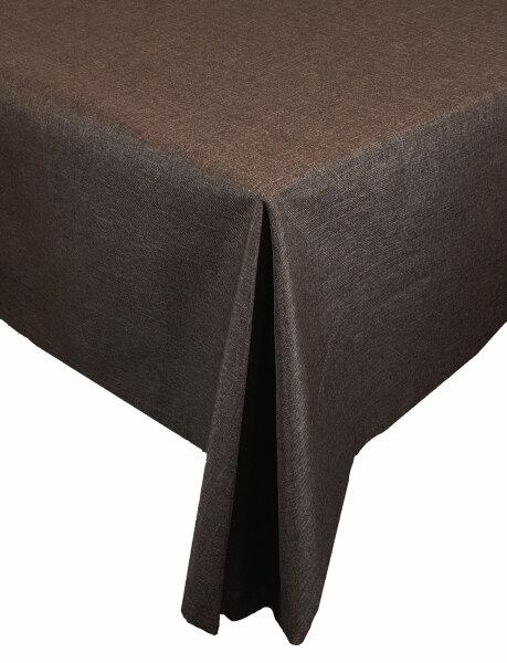 "Tischdecken-Serie ""Panama Uni"" oval 130 x 220 Dunkelbraun"