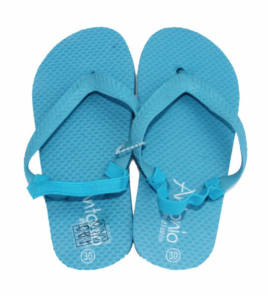 Beach Slipper Kinder hellblau 27