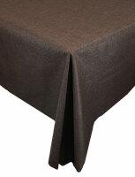 "Tischdecken-Serie ""Panama Uni"" oval 160 x 220 Dunkelbraun"