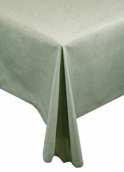 """Tischdecken-Serie """"Panama Uni"""" oval 160 x 220 Hellgrün"""