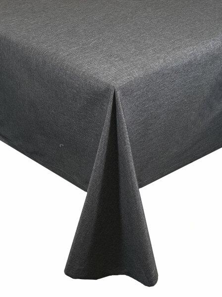 "Tischdecken-Serie ""Panama Uni"" oval 160 x260 Grau"
