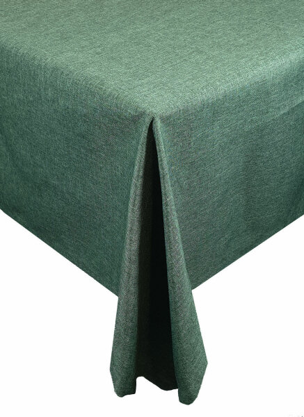 "Tischdecken-Serie ""Panama Uni"" oval 160 x260 Dunkelgrün"