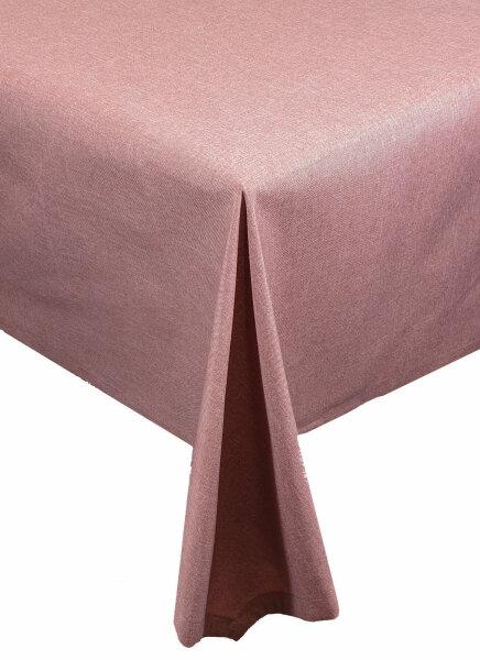 """Tischdecken-Serie """"Panama Uni"""" Läufer eckig 40 x 100 Altrosa"""