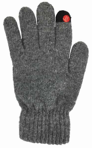 """Smartphone-Damen-Handschuhe """"Classic"""" Hellgrau"""