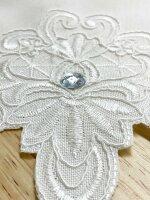 """Tischdecke """"Diamond"""" 85 x 85 cm edle Tischdecke mit hochwertiger Stickerei und ausgebogtem Rand"""