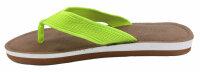 """Lady Beach Slipper """"Jamaika"""" Neon Strandschuh im Top-Design mit breiten Riemen für besten Tragekomfort 38/39 Gelb/Grün"""