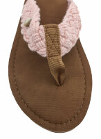 """Lady Beach Slipper """"Panama"""" Strandschuh im Top-Design mit breiten Riemen aus Baumwolle für besten Tragekomfort 38/39 Rosa"""
