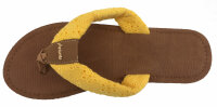"""Lady Beach Slipper """"Hawaii"""" Strandschuh im Top-Design mit breiten Riemen aus Baumwolle für besten Tragekomfort"""