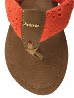 """Lady Beach Slipper """"Hawaii"""" Strandschuh im Top-Design mit breiten Riemen aus Baumwolle für besten Tragekomfort 40/41 Orange"""