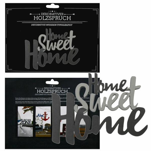 """Deko """"Holzspruch M"""" Home Sweet Home"""