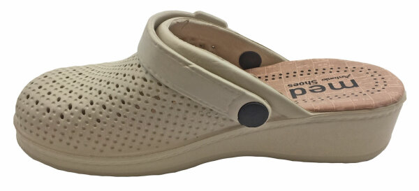 Damen Clogs Foam 39 Beige