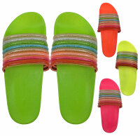 Damen Slipper Rainbow