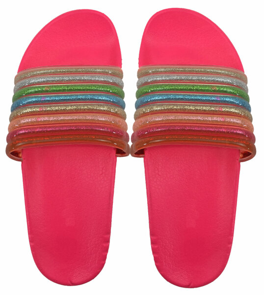 "Damen Slipper ""Rainbow"" 36 Pink"