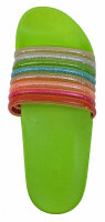 "Damen Slipper ""Rainbow"" 37 Grün"