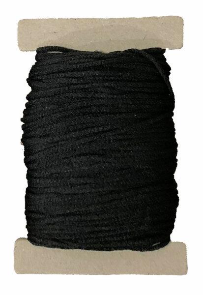 10 m Maskengummi Schwarz 3 mm