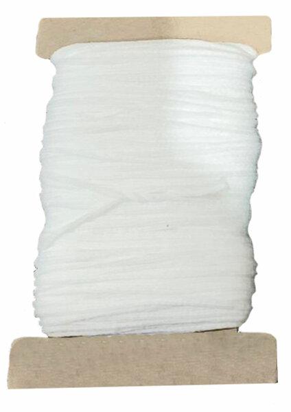 15 m Maskengumm Weiß 5 mm