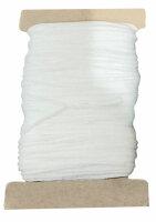 50 m Maskengummi Weiß / Schwarz 3 mm / 5 mm