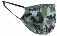 """Mundschutz-Maske mit Aktivkohle-Filter """"Camouflage"""" Grün"""