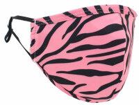 "Mundschutz-Maske mit Aktivkohle-Filter ""Animal"" Zebra pink"