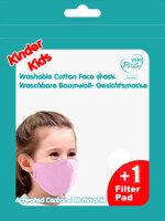 "Kinder Mundschutz-Maske ""Style"" mit Aktivkohlefilter Rosa"