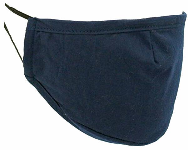 "Kinder Mundschutz-Maske ""Uni"" mit Aktivkohlefilter Blau"