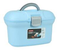 Curver Hobby Box mit Einsatz und Tragegriff blau
