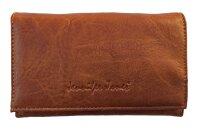 """Damengeldbörse """"Lotta"""" - schlichtes unifarbenes Design, Portemonnaie in mittlerer Größe für Damen und Mädchen"""