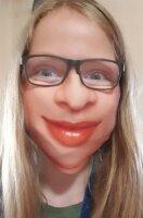 "Mund-Nasenbedeckung ""Face"" Frau 3"