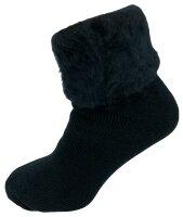 "Damen Thermo Socken ""Fluffy"" 39 - 42 Schwarz"