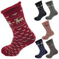 Damen Thermo Socken Elch superflauschig