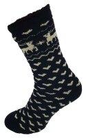 """Damen Thermo Socken """"Elch"""" 35 - 38 Schwarz"""