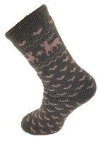 "Damen Thermo Socken ""Elch"" 35 - 38 Braun"