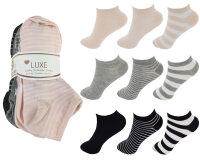 """9er Pack Damen Sneaker Socken """"Streifen-Mix"""""""