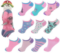 """10er Pack Kinder Sneaker Socken """"Einhorn"""" mit..."""