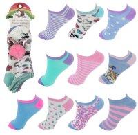 """10er Pack Kinder Sneaker Socken """"Katze"""" mit..."""