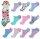 "10er Pack Kinder Sneaker Socken ""Katze"" mit Katzenkopf-Haargummi"
