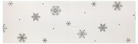 """Winter Tisch-Mitteldecke 85 x 85 cm/-Läufer 40 x 160 cm """"Eiskristall"""" Stickerei"""