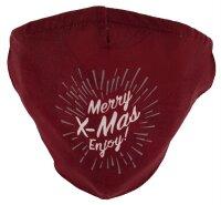 """Mundschutz-Maske mit Aktivkohle-Filter """"X-MAS""""  Baumwoll-Mischgewebe Merry X-Mas Enjoy!"""